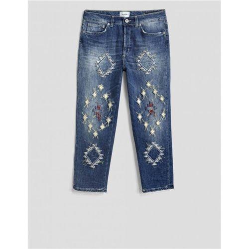 DONDUP - Pantalone ZOE Bleu