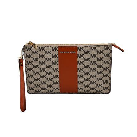 MICHAEL KORS - Pochette CENTER STRIPE Nat/Orange